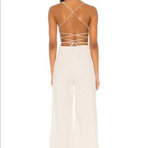 Leighton Jumpsuit in Off White